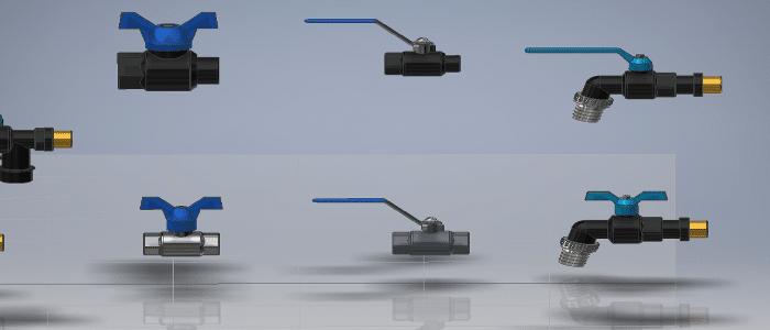 פלסים אביזרים ברזים תלת מימד להרכבות
